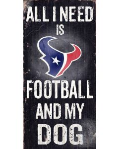 NFL Houston Texans - Football and My Dog Sign