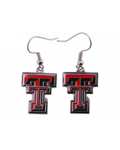 NCAA Texas Tech Red Raiders Dangle Logo Earring
