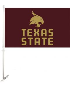 NCAA Texas State - Bobcats Car Flag