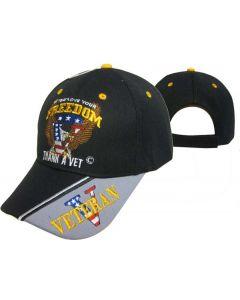 United States Military Hat Thank A Vet V/Flag Bill CAP606