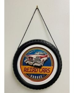 Texas Decor - Metal Tire-Retro Cars
