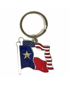 KC (Keychain)  66452 Texas/USA Flag SOLD BY THE DOZEN
