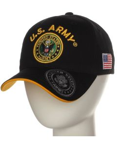 United States Army Seal Hat A04ARM06-BLK/GLD - Black
