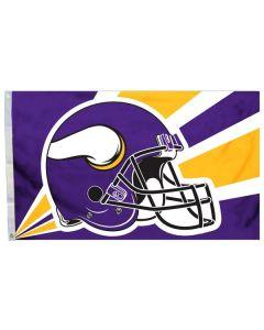 NFL Minnesota Vikings Flag - Helmet 3x5