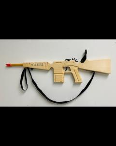 M-16 Wooden Rubber Band Gun