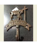 Texas Decor - Cast Iron Praying CB/Welcome Hook 56458