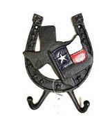Texas Decor - Cast Iron TX Map Hook 56636