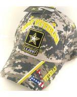 "United States Army Hat ""ARMY VETERAN"" Star V/Flag on Bill-Camo CAP591KC"