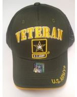 United States Army VETERAN Hat w/Star Logo and Seal(Side)-A04ARV03-OLV/GD
