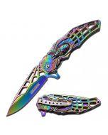 Knife - KS3605RB Skull/Spider