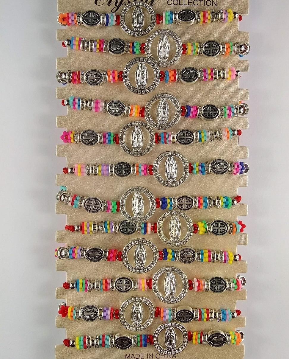 Fashion - Jewelry - Guadalupe Rhinestone BRACELET YBT-3090CD SOLD BY THE DOZEN
