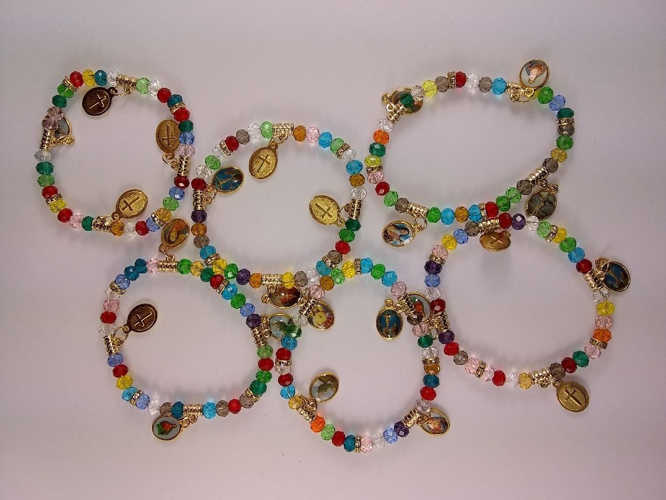 Fashion - Jewelry - Religious Charm BRACELET SA-1226 SOLD BY THE DOZEN