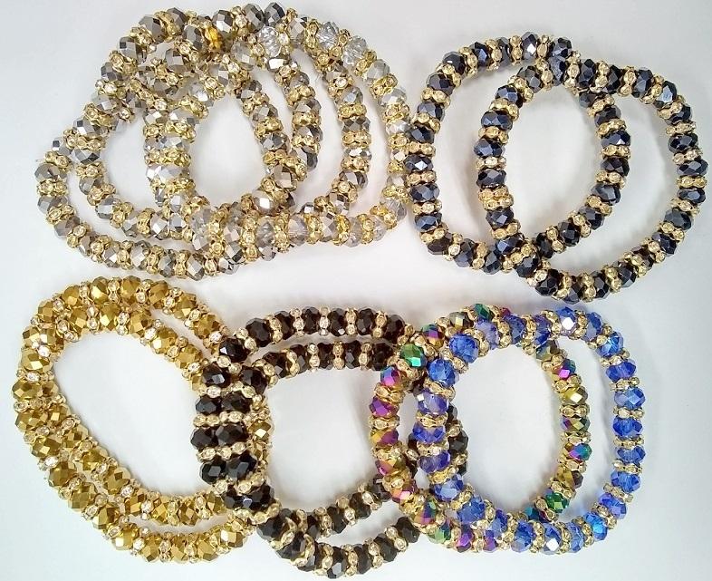 Fashion - Jewelry - BRACELET Crystal AR-9085 SOLD BY THE DOZEN