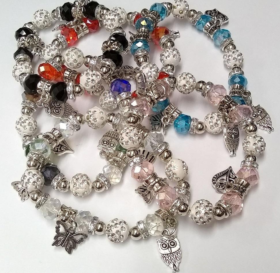 Fashion Jewelry - BRACELET SA-2464 Butterfly SOLD BY THE DOZEN