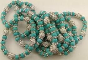 Fashion - JEWELRY - Bracelet Turquoise SA-2804 SOLD BY DOZEN