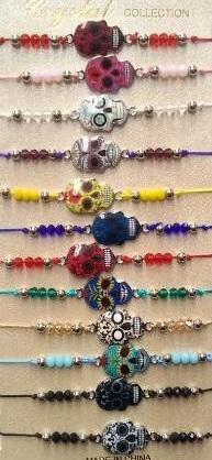 Fashion - JEWELRY - Sugar Skull Bracelet YBT-2852 SOLD BY THE DOZEN